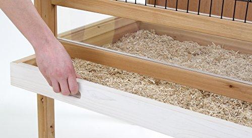 Kaninchen-Kleintierkäfig Indoor Deluxe, Kerbl, einstöckig, 115 x 60 x 92,5 cm - 2