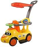 #8: Baybee Tikki-Rikki Push Car with Canopy and Parent Control, Music Sound (Yellow)