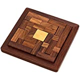 Shalinindia Handmade Indian Wood Jigsaw Puzzle Wooden Toys for Kids Travel Games for Families Unique Gifts for Children