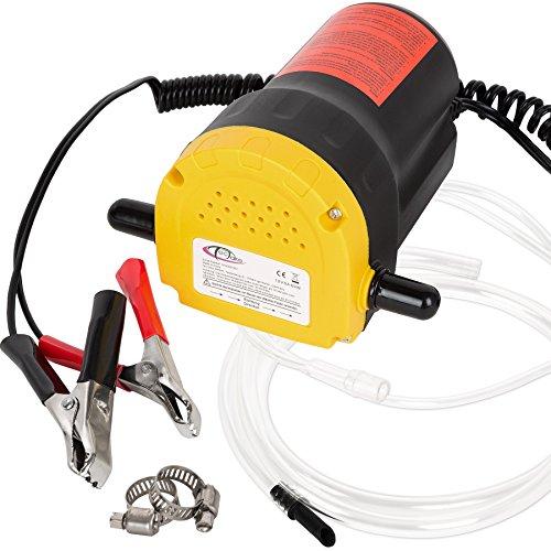 TecTake Bomba extractora de aceite eléctrica para coche 12V 60W cambio diesel fluídos