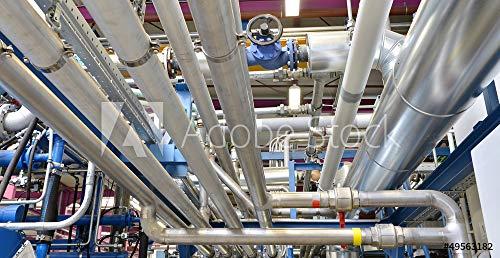 Folie Rohrleitungen (druck-shop24 Wunschmotiv: Rohrleitungen // Pipeline #49563182 - Bild als Klebe-Folie - 3:2-60 x 40 cm / 40 x 60 cm)