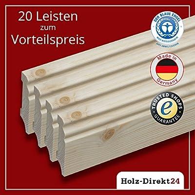 20 Stk/48 m Fußleisten Hamburger Profil Fichte 2400 x 18 x 70 mm - Vorteilspack 2,00€/m - 17% Rabatt von Holz-Direkt24 auf TapetenShop