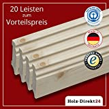 20 Stk/48 m Fußleisten Hamburger Profil Fichte 2400 x 18 x 70 mm - Vorteilspack 2,00€/m - 17% Rabatt