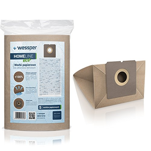 WESSPER-Staubsaugerbeutel-fr-Clatronic-1400w-5-Stck-Papierscke