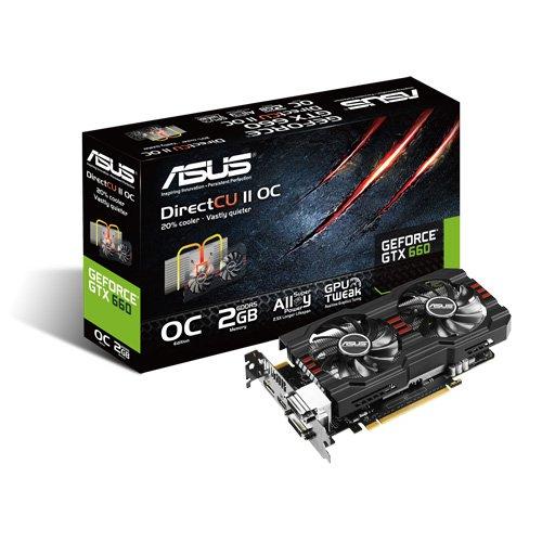 Asus NVIDIA GeForce GTX660 Grafikkarte (PCI-e, 2GB GDDR5 Speicher, DVI, HDMI, 1 GPU)