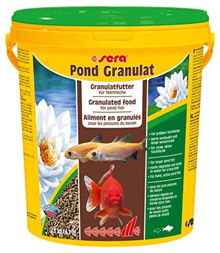 sera pond granulat - schwimmende Teichsticks bzw. pond Sticks für alle Teichfische mit Präbiotika für verbesserte Futterverwertung, geringere Wasserbelastung und weniger Algen -