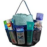 JEEJEX 8 Pocket Mesh Shower Tote Quick Dry Shower Caddy Portable Bath Organizer Toiletry Hanging Bag for College, Gym,Camp