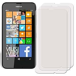 3 x Filmex Films de protection ecran Nokia Lumia 630 (3G, RM-977, Lumia 630 Dual Sim RM-978, Lumia 635 RM-974) - Mat (Anti-Reflet), Japon PET Qualité Premium, Kit d'installation, Garantie à vie