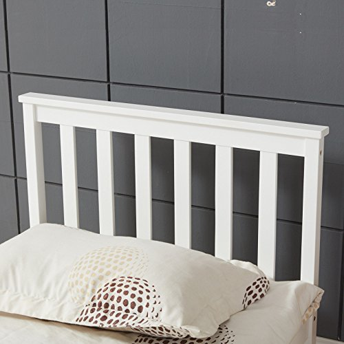 Vivo � Single Bed in White 3ft Single Bed Wooden Frame White Pine Wood Bedroom