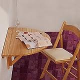 Eeayyygch Halbrund Massivholz Wand Tisch Klapptisch Schreibtisch Küche Esstisch Wand Tisch Computer Schreibtisch Lesen Studie Tisch Buch Schreibtisch Faltbar, 80 * 40 * 12 cm (Farbe: Weiß)
