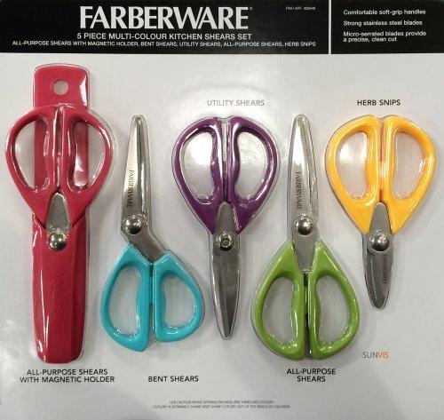 farberware-multi-colour-kitchen-shears-5-piece-set