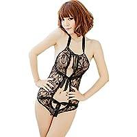 Donne Babydoll Sexy Lingerie Tre - Point insieme aperto esposto biforcazione latte pigiami di un pezzo