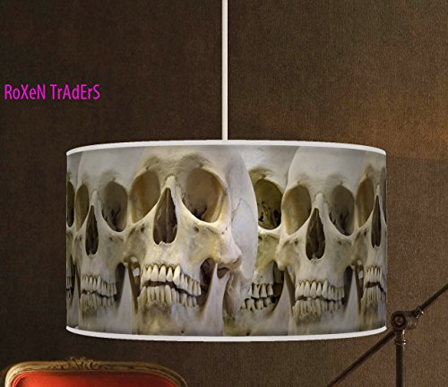 60cm (61cm) handgefertigt Print Stoff Lampenschirm Halloween Skelett-Art Retro Geometrie-667