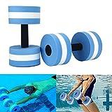Haltères en mousse Lembeauty - Lot de 2- Pour exercices de yoga aquatique, musculation, fitness - Barres flottantes, équipement de piscine