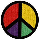 "Peace/CND Mulicoloured Embroidered Patch 7.5CM Dia (3"" Dia)"