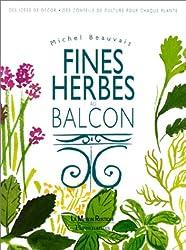 Fines herbes au balcon