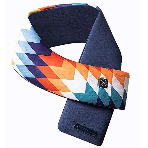 Tssm sciarpa elettrica, 5v 2500mah batteria elettrica ricaricabile sciarpa elettrica con regolazione a 3 livelli collo riscaldante morbido per scaldacollo rilievo freddo, lavabile,blu