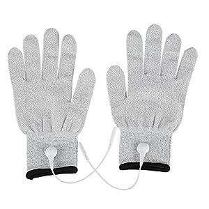 1 Paar Leitende Massage Handschuhe Physiotherapie-Elektroden-Handschuhe für Elektrotherapie, Massage