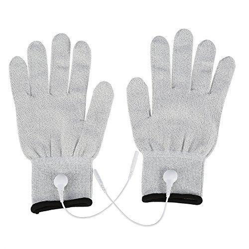 1par de guantes conductora Extremo Masaje Electrodos de fisioterapia de guantes para electroterapia, Masaje