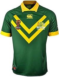 Australia Kangaroos 2017 - Maillot de Rugby à 13 Pro Domicile - Vert Centenaire