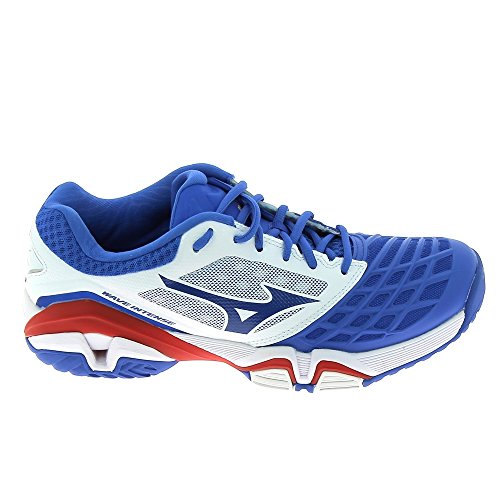 Mizuno Wave Intense Tour Ac, Chaussures de Tennis homme Multicolore (White/StrongBlue/ChineseRed)