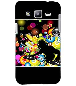 PrintDhaba DJ D-1421 Back Case Cover for SAMSUNG GALAXY J2 (Multi-Coloured)