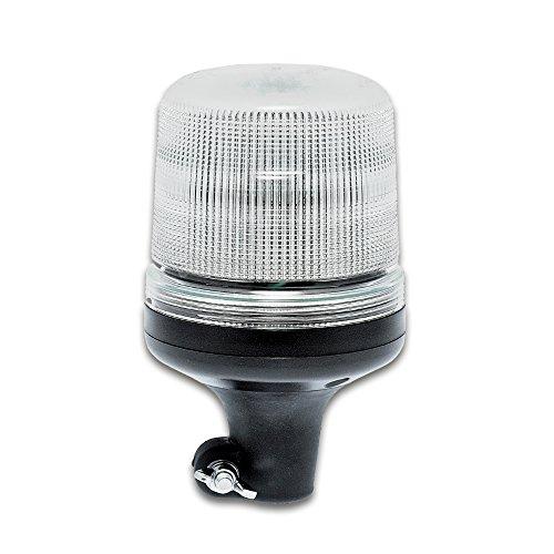 LED-MARTIN Rundumleuchte SESTO - 11 Blitzmuster - klar/gelb - DIN-Aufnahme - 12V 24V. Professionelle Kennleuchte, Warnleuchte, Blitzleuchte für den Einsatz im Straßenverkehr.