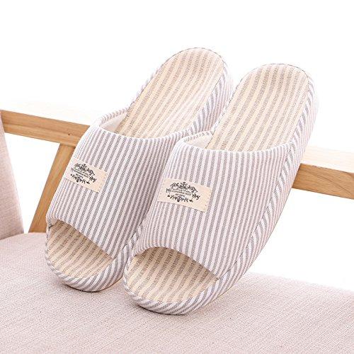 l'estate di cotone lino pantofole pantofole.,35 - 37 luce viola 41-42 blue