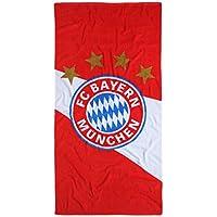 """FC Bayern München Serviette de douche Serviette de plage """"Diagonal couleur rouge/blanc taille 75x 150cm"""