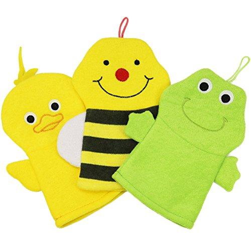 Scopri offerta per com-four® Kit di Lavaggio per Bambini soffione Asciugamano e Guanto da Bagno con Diversi Motivi