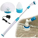 MK the Amazing Power Scrubber and Rechargeable Spin Cleaning Brush (Metal and Plastic, White and Blue)