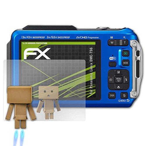 atFoliX Displayfolie kompatibel mit Panasonic Lumix DMC-TS6 Spiegelfolie, Spiegeleffekt FX Schutzfolie