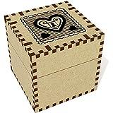 Moyen (57mm) 'Timbre Cadenas Coeur' boîte de bijoux (JB00009008)...