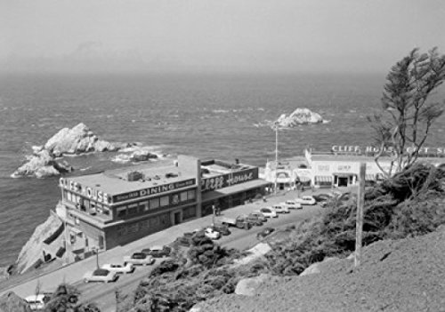 USA California San Francisco Seal Rocks and Cliff House Poster Drucken (60,96 x 91,44 cm) -