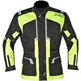 Akito terre Motocycle imperméable course Veste urbaine, veste de moto Touring, Noir/Jaune XS Noir/Jaune