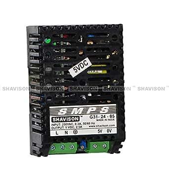 Shavison SMPS G31-24-05, I/P : 230VAC, O/P : 5V, 2.5A