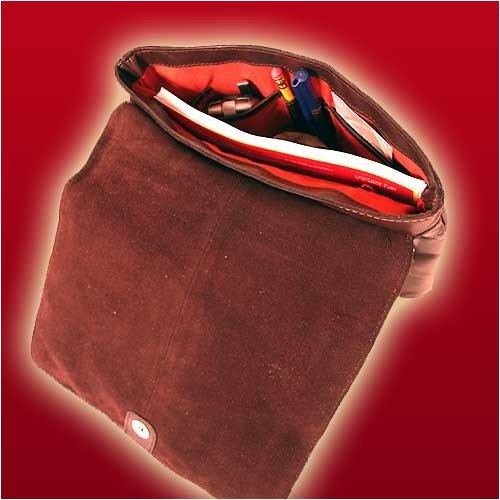 Shalimar 'Supernatural' - Sac bandouillère format A4 modèle Madison - Cuir de qualité Marron Foncé