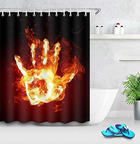 yijingerp 3-D Digital Bedruckter Badvorhang Aus Polyester Mit Feuerpalme