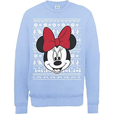 Brands In Limited Mini Mouse Christmas Mini Head-sudadera Mujer
