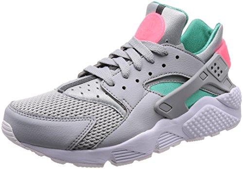 Nike Air Huarache, Zapatillas para Hombre, Gris (Wolf GreyKinetic GreenSunset Pulse 053), 42.5 EU