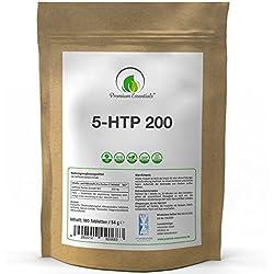 5-HTP 200 | 180 / 360 Tabletten | 5-Hydroxytryptophan (Vegan) ULTRA HOCHDOSIERT | Griffonia Samen Extrakt | UNTERSTÜTZUNG FÜR DEN SEROTONIN-SPIEGEL (180)
