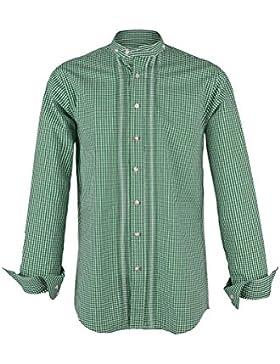 Almsach Herren Stehbundhemd Vichy grün 'Franz', grün,