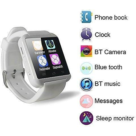 Yuntab móvil U8 Reloje SmartWatch Bluetooth 3.0 Muñequera de silicona para Apple iOS iphone teléfono inteligente 4 / 4S / 5 / 5C / 5S / 6 Android Samsung S2 / S3 / S4 / Nota 3.2 Nota HTC Nokia.