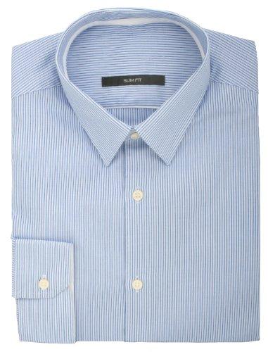 Ex Store Blau Slim Fit, Streifen, Seil und Einfachmanschette Shirt Long Sleeve -