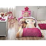 Original Barbie Sparkle Juego de Funda Nórdica, Para Cama individual 90/105 cm, 100% algodón, 3 Piezas