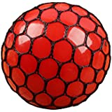 60-65mm Silicone Squeeze Ball Stress Relief Squeezing Soft Rubber Vent Squishy Grape Mesh Ball Hand Wrist Toy Funny Geek Gadget Vent Toy - B071WPFYBQ