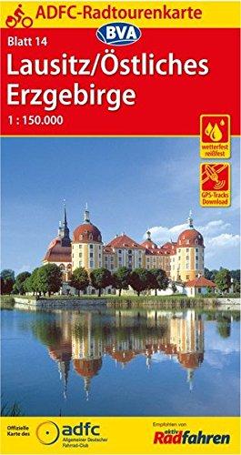 Preisvergleich Produktbild ADFC-Radtourenkarte 14 Lausitz /Östliches Erzgebirge 1:150.000, reiß- und wetterfest, GPS-Tracks Download (ADFC-Radtourenkarte 1:150000)