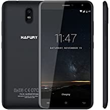 HAFURY UMAX Smartphone 3G Android 7.0 6,0 Pulgadas 2,5D IPS MTK6580 1,3GHz Quad Core 2GB RAM 16GB ROM Batería 4500mAh Cámara 13MP & 5MP Dual SIM Soporta Tarjeta TF, Negro