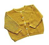 TAIYCYXGAN Unisex Baby Jungen Mädchen Strick Wolljacke Pullover Button-Down Pullover Strickjack Gelb 66
