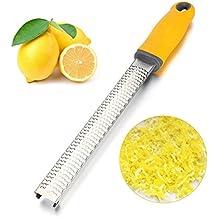 begorey práctico multiusos zester acero inoxidable rallador para queso de cítricos de limón